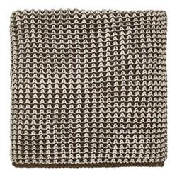 Trisara Knitted throw, L130 x W150cm, truffle