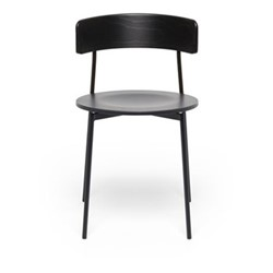 Friday Chair with no arms, H76 x W44 x D47.5cm, beech wood/black