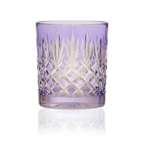 Pineapple Pair of double old fashioned tumblers, 28cl, Lavender