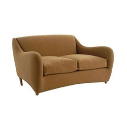 Balzac by Matthew Hilton 2 seater sofa, W155 x D102 x H80cm, utah russet leather