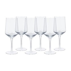 Hoxton Set of 6 red wine glasses, H23.5 x W9.2cm, clear
