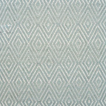 Diamond Polypropylene indoor/outdoor rug, W122 x L183cm, light blue/ivory