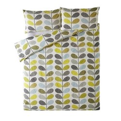 Scribble Stem Double quilt cover, 200 x 200cm, duckegg seagrass