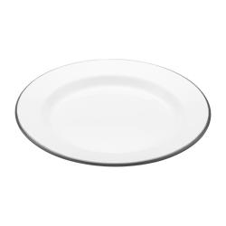 Living Nostalgia Plate, 24cm, White Enamel