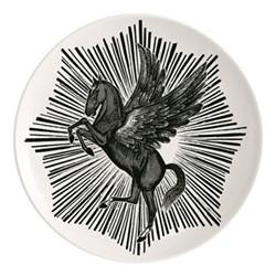 Pegasus Plate, Dia25.5cm, black/white