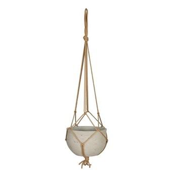 Stratton Hanging pot, H13 x D20 x W20cm, grey