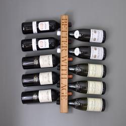 Personalised wall mounted wine rack, 58 x 9 x 4.5cm, Oak