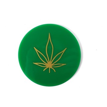 Leaf Set of 4 coasters, W10.16 xD10.16cm, green