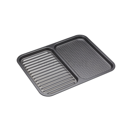 Divided baking tray, 39 x 31 x 15cm, non-stick