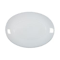 Pearl Oval Platter, 40cm, White