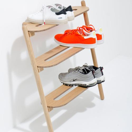 Heel Shoe tidy, H72 x W66 x D32cm, Natural Oak