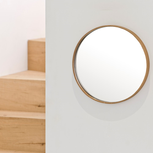 Glance -310 Round wall mirror, Dia31cm, Natural Oak