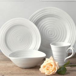 Ceramics 12-piece dinner set, White