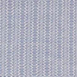 Fair Isle Woven cotton rug, W76 x L244cm, french blue/ivory