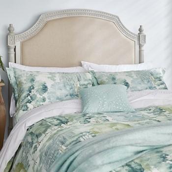 Waterperry Super king size duvet cover, L220 x W260cm, mint