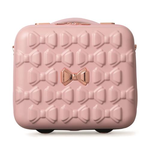 Bow Vanity suitcase, L31.5 x W34 x D19.5cm, Pink