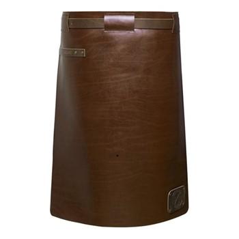 Waist Down Collection Long apron, H60 x W62cm, dark brown