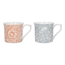 Mary Morris Pair of mugs, H9 x W25 x L11cm, orange/blue