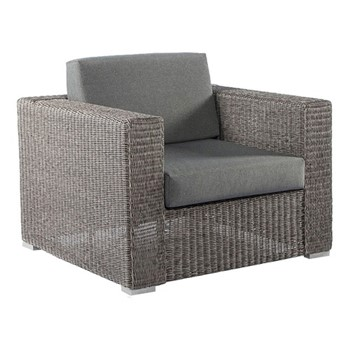 Monte Carlo Lounge chair with cushion, H76 x W90 x D91cm, grey