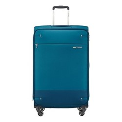 Base Boost Spinner expandable suitcase, 78 x 48 x 31/34cm, petrol blue stripes