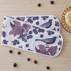 Blackbird & Bramble Oven glove, 84 x 20cm, white/purple/pink
