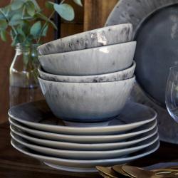 Madeira Set of 6 soup/cereal bowls, 14cm, grey