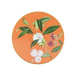Tresor Fleuri Coupe plate flat, D16cm, orange