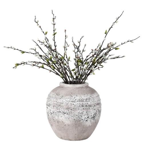 Vase, 34 x 32cm, Distressed Stone