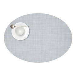 Mini Basketweave Set of 4 oval placemats, 36 x 49cm, sky