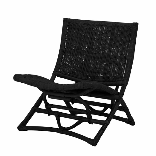 Baz Lounge chair, H74 x W68 x L66cm, Black
