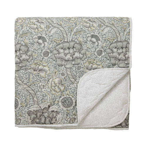 Wandle Quilted throw, L265 x W260cm, Grey