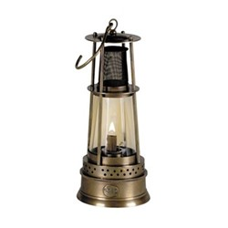 Miner's Table lamp, H25 x D10cm, brass