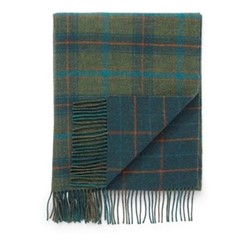 Checked Lambswool throw, 190 x 140cm, blue check