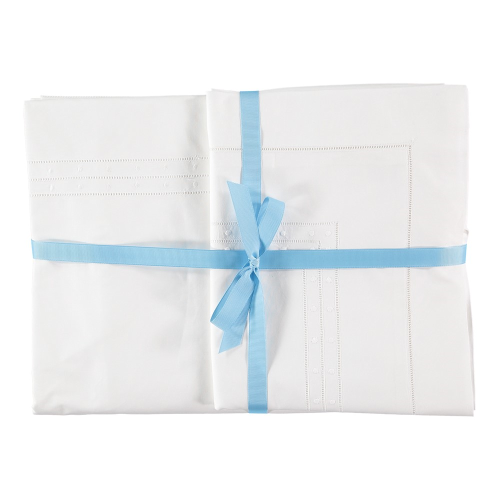 Matilda Super king size duvet cover, 260 x 220cm, White 200 Thread Count Cotton