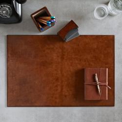 Desk mat, 60 x 40cm, Tan Leather