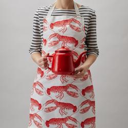 Lobster Apron, 60 x 80cm, coral