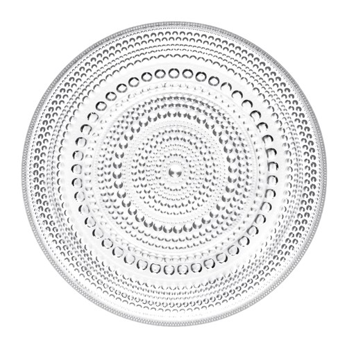 Kastehelmi Plate, 17cm, Clear
