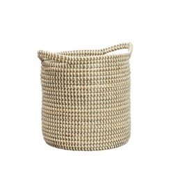 Lang Large seagrass planter, 25 x 25 x 27cm, natural