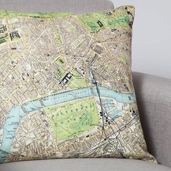 Cushion with personalised map large