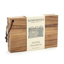 Cheese board set, L23 x W15cm, acacia wood