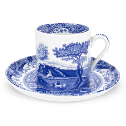 Blue Italian Set of 4 coffee cups and saucers, 90ml