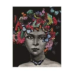 Butterfly Lady Art print, H50 x W40cm, multi