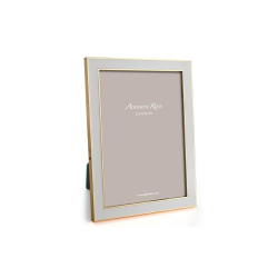 """Enamel Range Photograph frame, 4 x 6"""" with 15mm border, Chiffon With Gold Plate"""