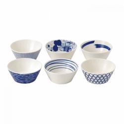 Pacific Set of 6 tapas bowls, 11cm, Assorted