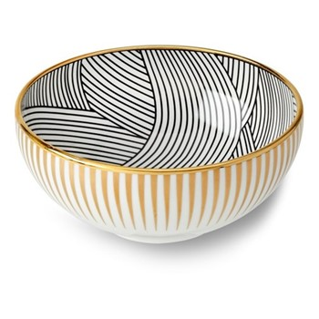 Lustre Cereal bowl, D15 x H6.5cm, inner black dhow