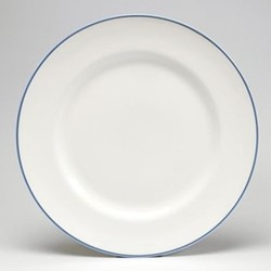 Dinner plate, 26cm, cornflower blue/white