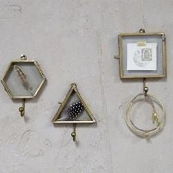 Kiko Square hook, 10 x 8cm, antique brass