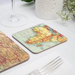 Set of 4 personalised map coasters, 10 x 10cm