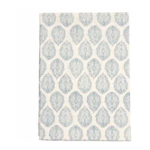 Leaf Tablecloth, 150 x 300cm, Blue Cotton