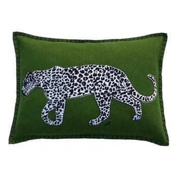 Leopard Cushion, 48 x 35cm, green